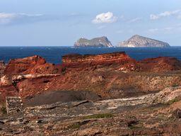Blick vom Vani-Bergwerk auf die Akrathi-Inseln (c) Tobias Schorr